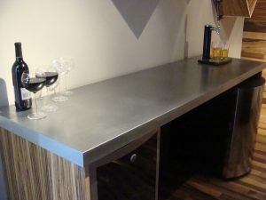 Zinc countertops guest post by joe cain of mio metals for Zinc kitchen countertop