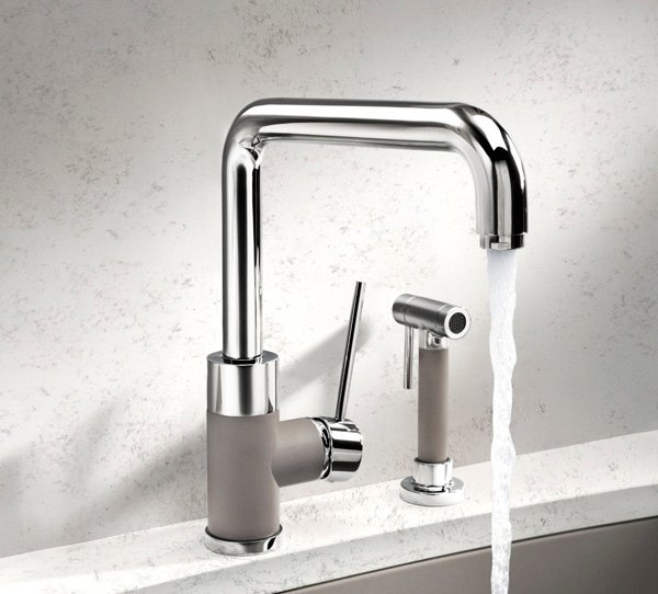Imm 2013 style trends two tone faucet for Kitchen faucet trends