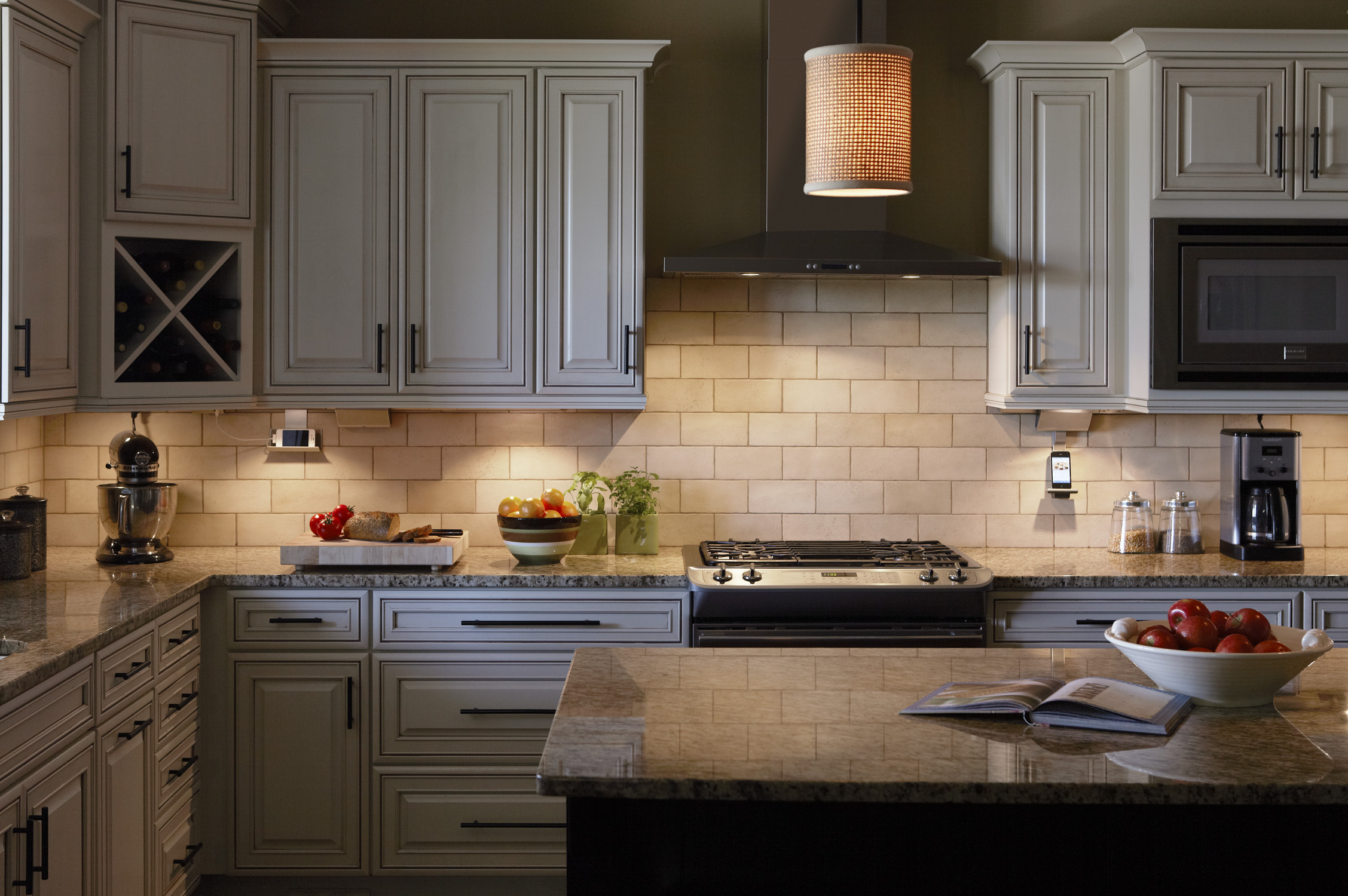 Under Cabinet Outlets Kitchen Under Cabinet Lighting System From Legrand