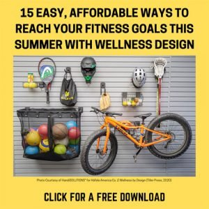 SUMMER-FITNESS-PROMO image of sports equipment on wall